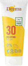 Perfumería y cosmética Loción protectora solar para rostro y cuerpo, hipoalergénica SPF 30 - Derma Sun Lotion SPF30