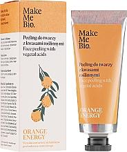 Perfumería y cosmética Exfoliante facial de ácidos vegetales con naranja - Make Me Bio Orange Energy Face Peeling With Vegetal Acids