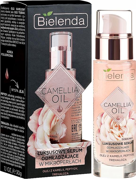Sérum facial rejuvenecedor con aceite de camelia y péptidos - Bielenda Camellia Oil Luxurious Rejuvenating Serum
