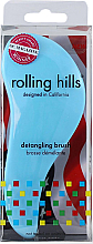 Perfumería y cosmética Cepillo de pelo desenredante, azul claro, formato viaje - Rolling Hills Detangling Brush Travel Size Sky Blue