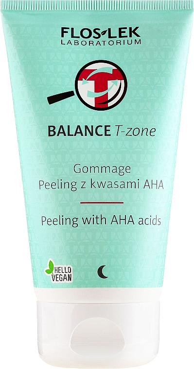 Peeling facial con ácidos AHA - Floslek Balance T-Zone Gommage Peeling With AHA Acids