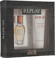 Perfumería y cosmética Replay Jeans Original for Her - Set (eau de toilette/mini/20ml + loción corporal/100ml)