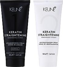 Perfumería y cosmética Keune Keratin Straightening Rebonding System Normal - Set para alisado de cabello con queratina, normal (crema/100ml + crema neutralizadora/100ml)