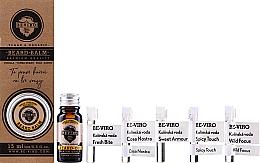 Perfumería y cosmética Set (aceite de barba/10ml+ bálsamo de barba/15ml+ agua de colonia/5x1ml) - Beviro Vanilla Palo Santo Tonka Boby