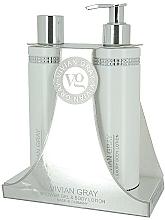 Perfumería y cosmética Set corporal - Vivian Gray White Crystals Set (gel de ducha/250ml + loción/250ml)