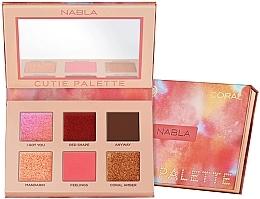 Perfumería y cosmética Paleta de sombras de ojos brillante - Nabla Cutie Collection Palette Coral