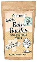 """Perfumería y cosmética Polvo de baño """"Sorbete de naranja"""" con manteca de karité - Nacomi Sunny Orange Sorbet Bath Powder"""