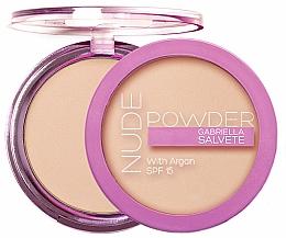 Perfumería y cosmética Polvos compactos con aceite de argán, acabado mate - Gabriella Salvete Nude Powder SPF15