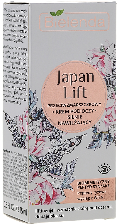Crema contorno de ojos con ácido hialurónico - Bielenda Japan Lift Eye Cream