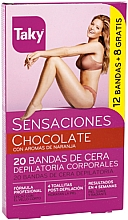 Perfumería y cosmética Bandas de cera depilatoria corporales con aromas de naranja - Taky Chocolate Body Wax Strips With Orange Fragrance Box