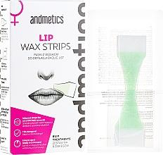 Perfumería y cosmética Bandas de cera depilatoria para rostro - Andmetics Lip Wax Strips Women (bandas/8uds. + toallitas calmantes/4uds.)