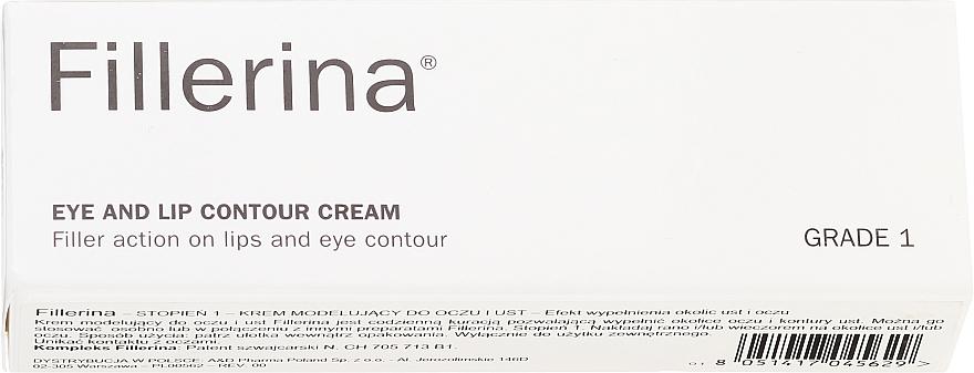 Crema para contorno de ojos y labios con ácido hialurónico, grado 1 - Fillerina Eye And Lip Contour Cream Grade 1