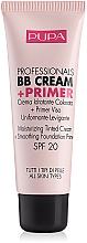 Perfumería y cosmética BB crema y prebase de maquillaje con ácido hialurónico - Pupa Profesional bb Cream + Primer Tone-Cream