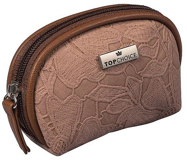 Neceser cosmético, 98581, marrón claro (13x8x5cm) - Top Choice Lace