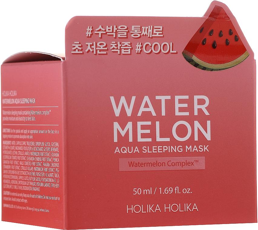 Mascarilla facial hidratante de noche con extracto de sandía - Holika Holika Watermelon Aqua Sleeping Mask