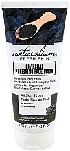 Perfumería y cosmética Mascarilla facial revitalizante con carbón vegetal natural, sin parabenos - Naturalium Fresh Skin Charcoal Polishing Face Mask