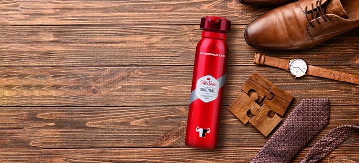 Llévate de regalo un desodorante por la compra de productos Old Spice superior a 9 €