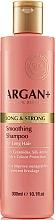 Perfumería y cosmética Champú hidratante con aceite de argán, ceramidas y aminoácidos de seda - Argan + Long & Strong Smoothing Shampoo