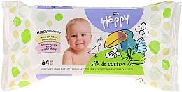 Perfumería y cosmética Toallitas húmedas para niños - Bella Baby Happy Silk & Cotton