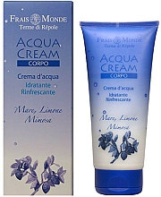 Perfumería y cosmética Crema corporal hidratante con agua marina, limón y mimosa - Frais Monde Acqua Cream Body Sea Lemon And Mimosa