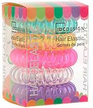 Perfumería y cosmética Set coletero espiral de colores 5 uds. - IDC Institute Design Hair Bands Pack