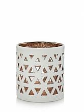 Perfumería y cosmética Lámpara aromática de cerámica - Yankee Candle Belmont White Ceramic Tea Light Votive