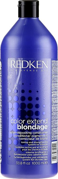Acondicionador con pigmento violeta para cabello rubio - Redken Color Extend Blondage Conditioner