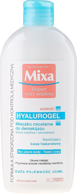 Leche micelar desmaquillante con ácido hialurónico, pieles sensibles - Mixa Hyalurogel