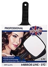 Perfumería y cosmética Espejo profesional con mango 326mm x 227mm ,192 - Ronney Professional Mirror Line