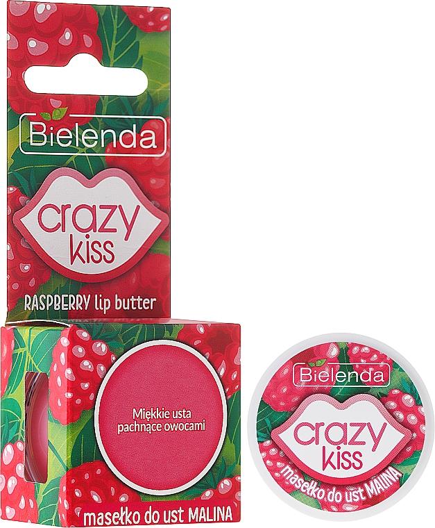 Manteca labial con aceite de argán y aroma a frambuesa - Bielenda Crazy Kiss Raspberry Lip Butter