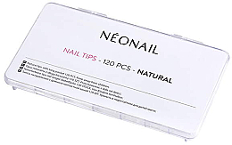 Perfumería y cosmética Tips de manicura, color blanco, 120uds. - NeoNail Professional Nail Tips Natural