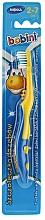 Perfumería y cosmética Cepillo dental suave, amarillo con azul - Bobini