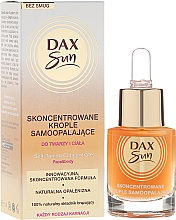 Perfumería y cosmética Concentrado autobronceador de rostro y cuerpo con aceite de ricino - Dax Sun Self-tanning Concentrated Drops