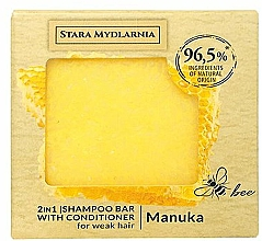 Perfumería y cosmética Champú acondicionador sólido 2en1 con extracto de miel de Manuka - Stara Mydlarnia Manuka 2in1 Shampoo Bar