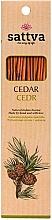 Perfumería y cosmética Varitas de incienso con aroma a cedro - Sattva Cedr