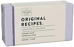 Perfumería y cosmética Jabón con aroma a geranio y lavanda - Scottish Fine Soaps Original Recipes Geranium & Lavender Luxury Soap Bar