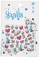 Perfumería y cosmética Pegatinas decorativas para uñas - Snails 3D Nail Stickers (10uds.)