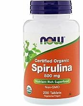 Perfumería y cosmética Complemento alimenticio en cápsulas espirulina orgánica, 500mg - Now Foods Certified Organic Spirulina
