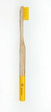 Perfumería y cosmética Cepillo dental de bambú, medio, amarillo - Biomika Natural Bamboo Toothbrush