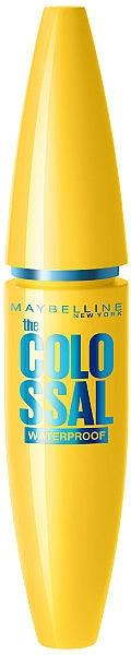 Máscara de pestañas resistente al agua para volumen - Maybelline Colossal Waterproof 100% Black