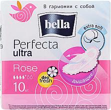 Perfumería y cosmética Compresas con alas transpirables extra suaves 4 gotas Perfecta Rose Deo Fresh Drai Ultra, 10uds. - Bella