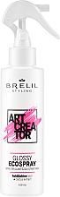 Perfumería y cosmética Spray para dar brillo al cabello con extracto de cactus, fijación fuerte - Brelil Art Creator Glossy Ecospray