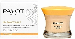 Perfumería y cosmética Crema de noche reparadora con bayas de goji & extracto de avellana - Payot My Payot Nuit