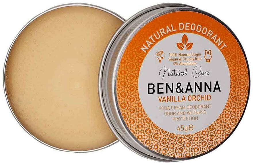 Desodorante crema natural con vainilla y orquídea - Ben & Anna Vanilla Orchid Soda Cream Deodorant