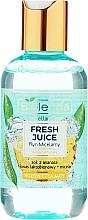 Perfumería y cosmética Agua micelar desmaquillante con agua cítrica bioactiva, jugo de piña, ácido lactobiónico - Bielenda Fresh Juice Micellar Water Pineapple