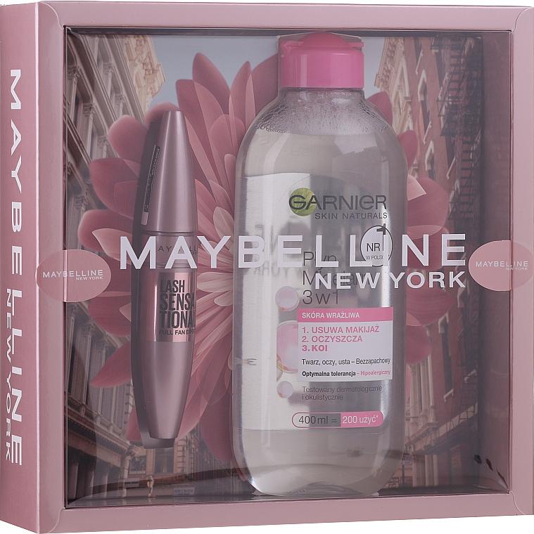 Set - Maybelline New York (máscara/9.5ml + agua micelar/400ml)