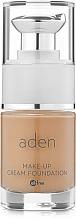 Perfumería y cosmética Base de maquillaje hipoalergénico de cobertura ligera y larga duración con colágeno - Aden Cosmetics Cream Foundation