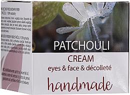 Perfumería y cosmética Crema para ojos, rostro y escote con aceite esencial de pachulí - Hristina Cosmetics Handmade Patchouli Eyes & Face & Decollete Cream