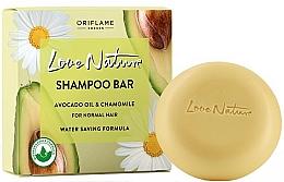 Perfumería y cosmética Champú sólido con aceite de aguacate y extracto de camomila - Oriflame Love Nature Shampoo Bar Avocado Oil & Chamomile For Normal Hair