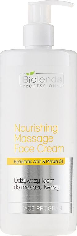 Crema facial con aceite de marula & ácido hialurónico - Bielenda Professional Face Program Nourishing Massage Face Cream